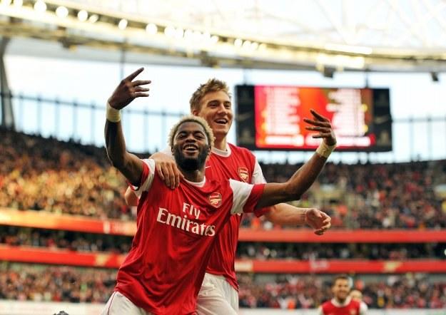 Alex Song, Nicolas Bendtner mogą  z Arsenalem awansować do 1/8 Ligi Mistrzów /AFP
