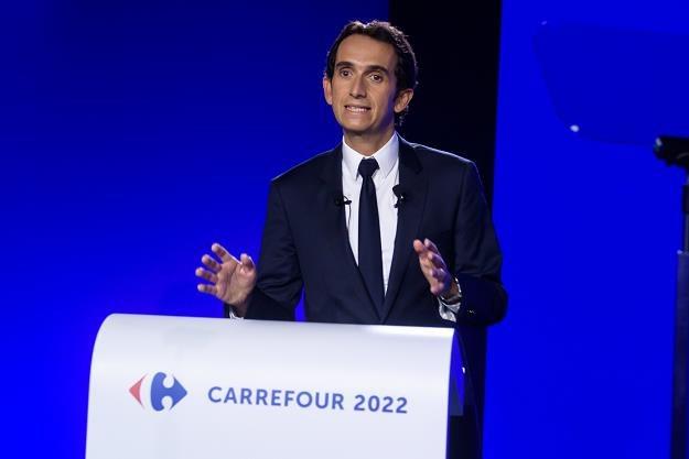 Alexandre Bompard, prezes spólki, w czasie prezentacji programu  Carrefour 2022 /EPA