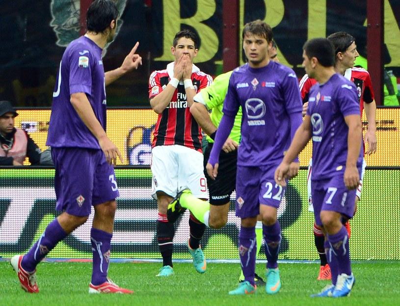 Alexandre Pato po niewykorzystanym karnym z Fiorentiną /AFP