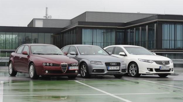 Alfa Romeo 159, Audi A4, Honda Accord: trzy pomysły na oszczędną limuzynę z dieslem. /Motor
