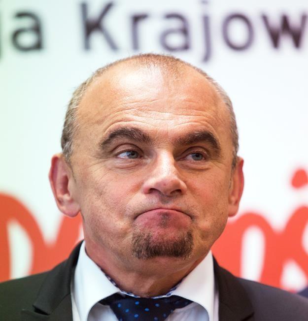"""Alfred Bujara, przewodniczący sekcji krajowej pracowników handlu NSZZ """"S"""". Fot. Grażyna Myślinska /FORUM"""