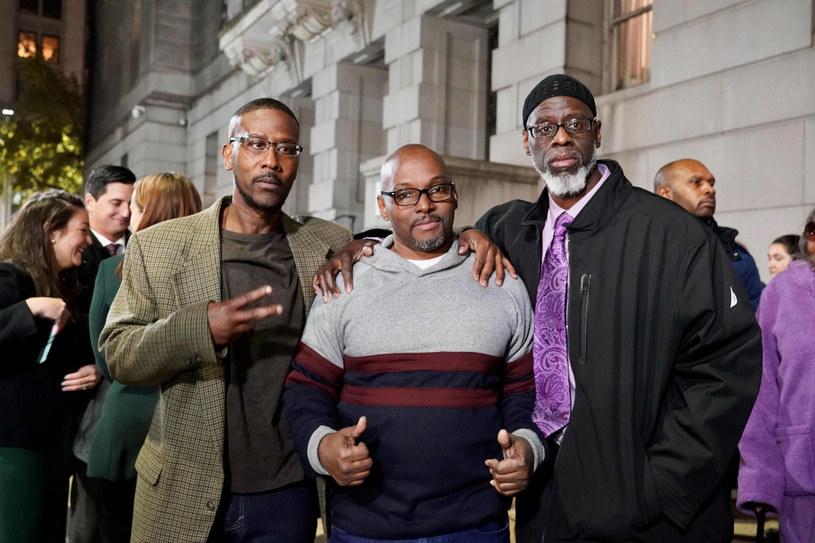 Alfred Chestnut, Ransom Watkins i Andrew Stewart wyszli z więzienia po 36 latach /TODD KIMMELMAN/AFP /East News