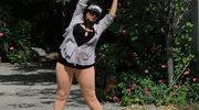 Alice Amter ćwiczy w parku pod okiem… paparazzich!