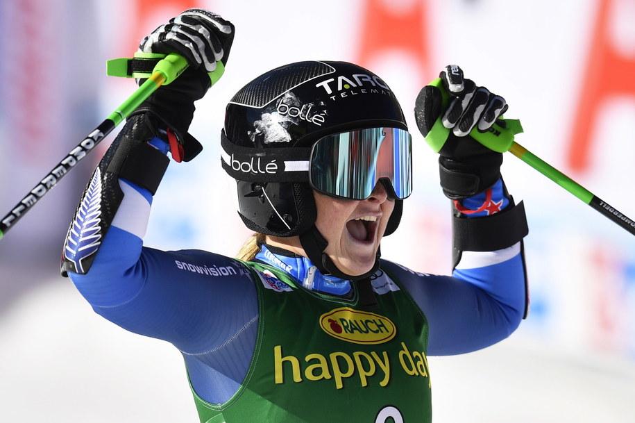 Alice Robinson wygrała zawody Pucharu Świata w austriackim Soelden /GIAN EHRENZELLER /PAP/EPA