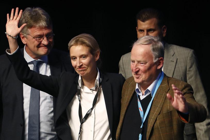 Alice Weidel i Alexander Gauland będą czołowymi kandydatami partii w jesiennych wyborach /AFP