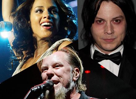 Alicia Keys, Jack White i James Hetfield - fot. Jeff Brass, Dave Hogan, Ethan Miller /Getty Images/Flash Press Media