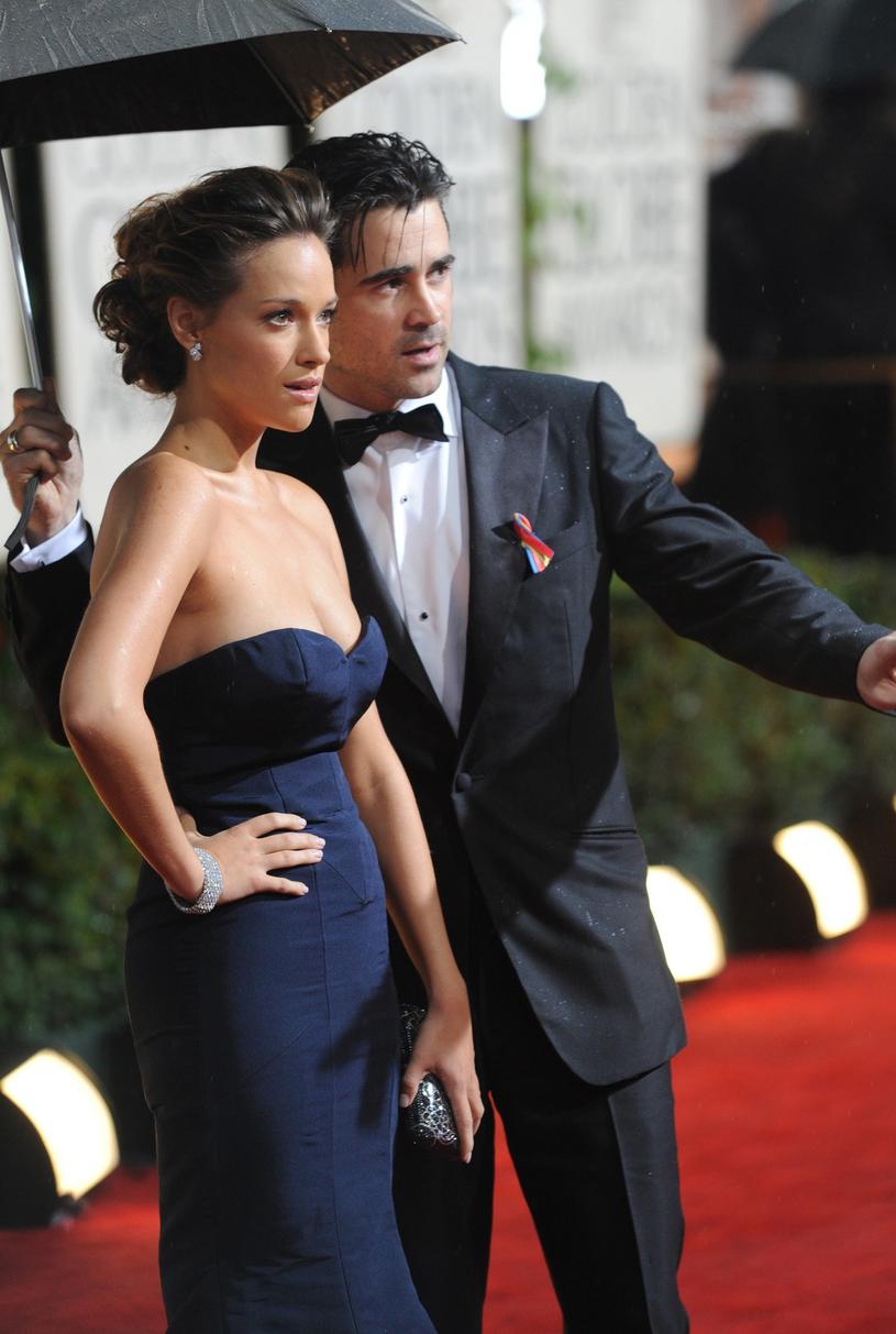 Alicja Bachleda-Curuś i Colin Farrell na rozdaniu Złotych Globów, 2010 r. /East News