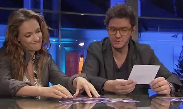 """Alicja Bachleda-Curuś i Kuba Wojewódzki podczas ostatecznej narady - fot. """"X Factor"""" /TVN"""