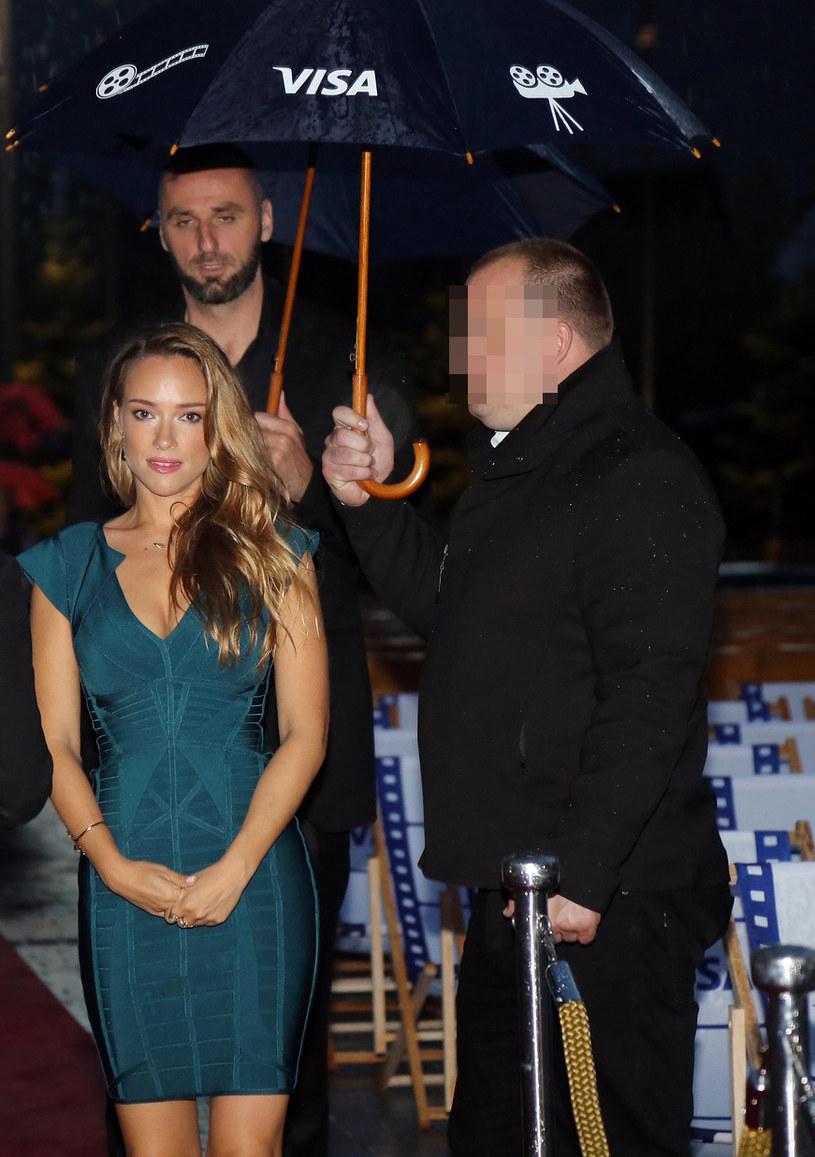 Alicja Bachleda-Curuś i Marcin Gortat podczas festiwalu /Łukasz Gagulski /East News