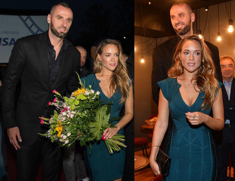 Alicja Bachleda-Curuś i Marcin Gortat podczas uroczystej gali w Zakopanem /Paweł Mazurek /Agencja FORUM