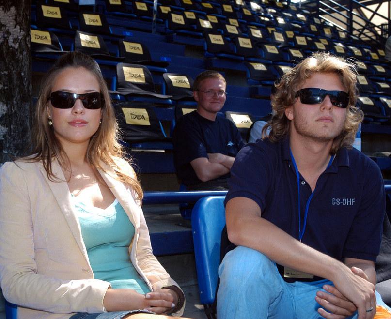 Alicja Bachleda-Curuś i Piotr Starak - 2004 r. /Warda /AKPA