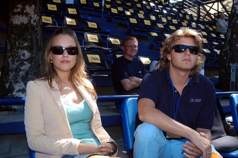 Alicja Bachleda-Curuś i Piotr Wożniak-Starak w roku 2003 /Warda /AKPA