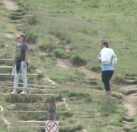 Alicja Bachleda-Curuś i Sebastian Karpiel-Bułecka razem na szlaku /Foto IP