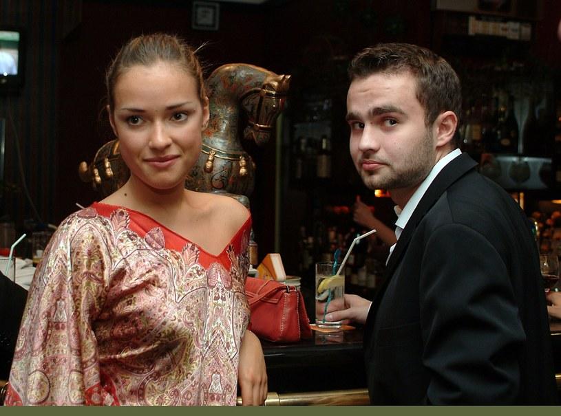 Alicja Bachleda-Curuś i Sebastian Kulczyk, 2003 r. /Piotr Fotek/REPORTER /Reporter