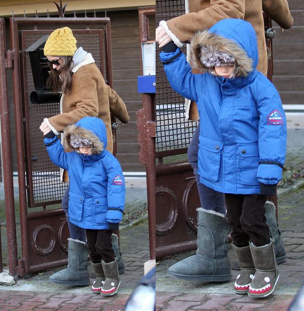 Alicja Bachleda-Curuś z małym Henrym /Foto IP