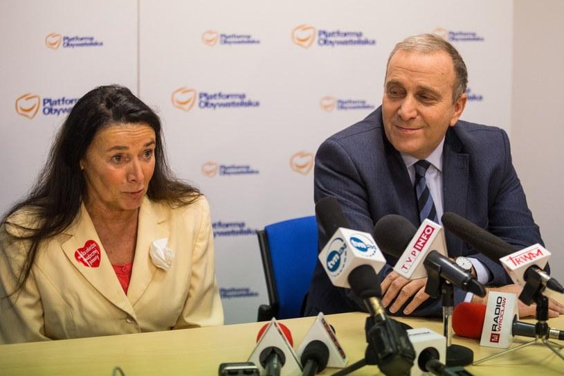 Alicja Chybicka i Grzegorz Schetyna /East News