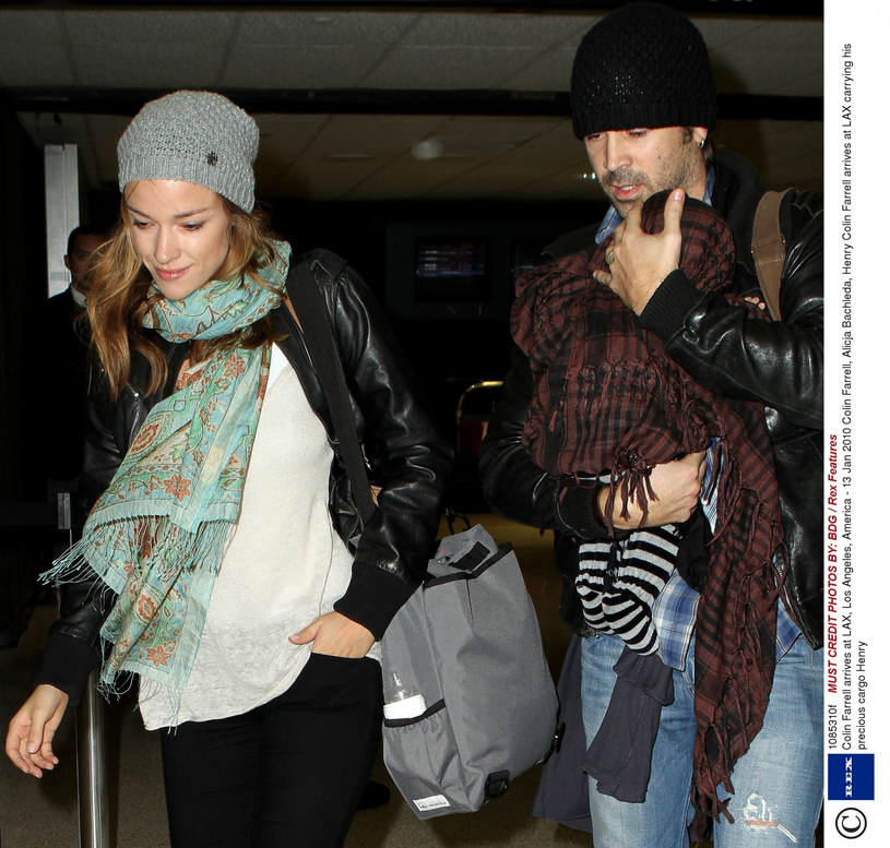Alicja i Colin z synkiem /Rex Features /East News