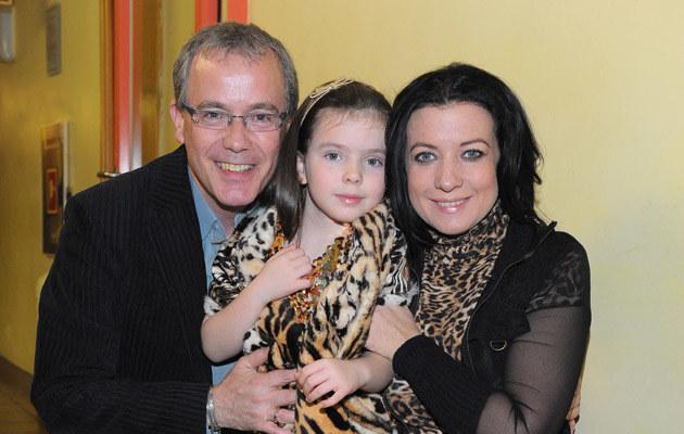Alicja Węgorzewska z córką i mężem, fot.Radosław Nawrocki  /Agencja FORUM