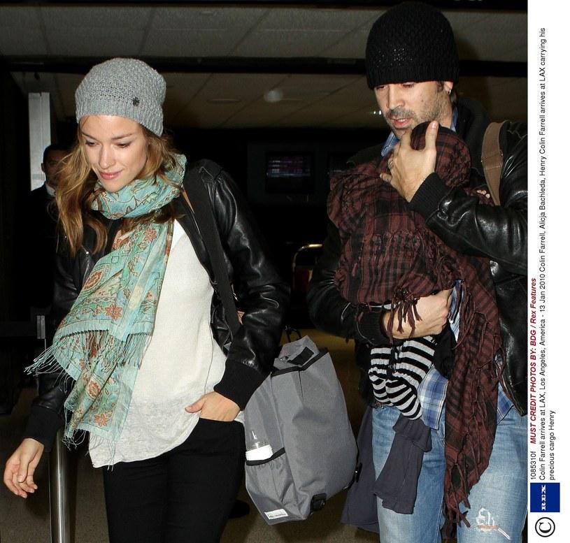 Alicja z Colinem i synkiem (2010 r.) /East News