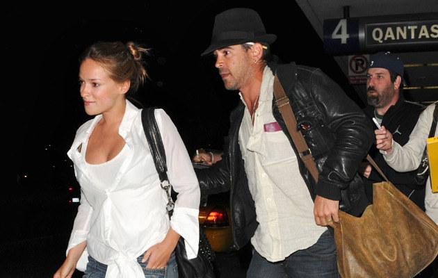 Alicja z Colinem na lotnisku w Los Angeles  /Agencja FORUM