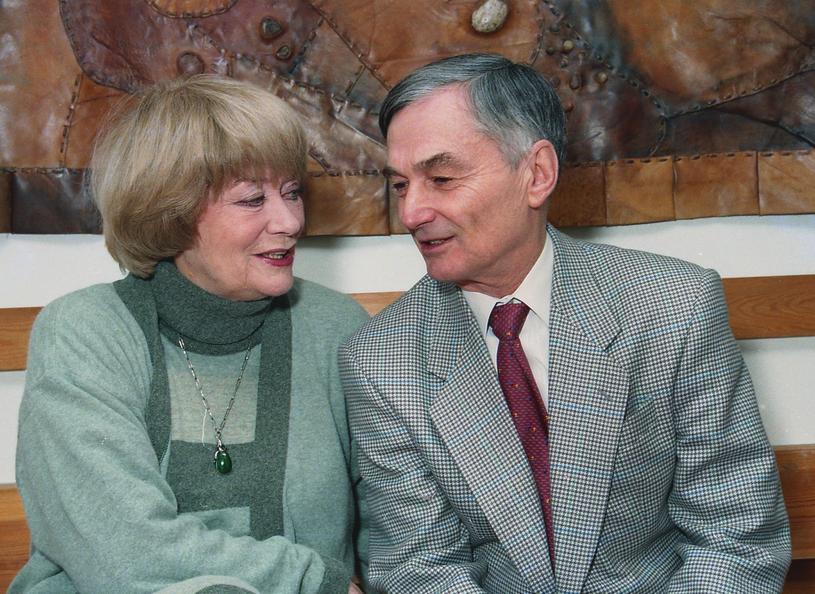 Alina Janowska i Wojciech Zabłocki, 1994 rok /Marek Szymański/Reporter /East News
