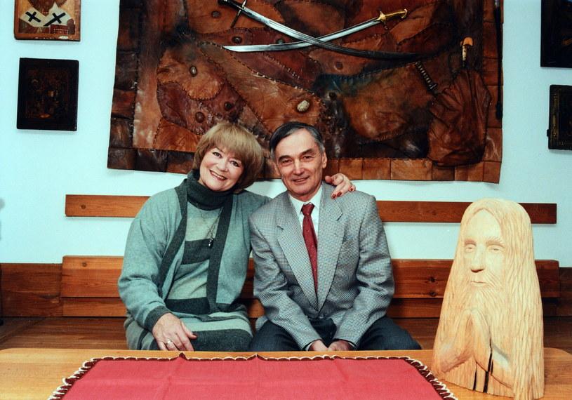 Alina Janowska i Wojciech Zabłocki w 1998 roku /Marek Szymański /Agencja FORUM