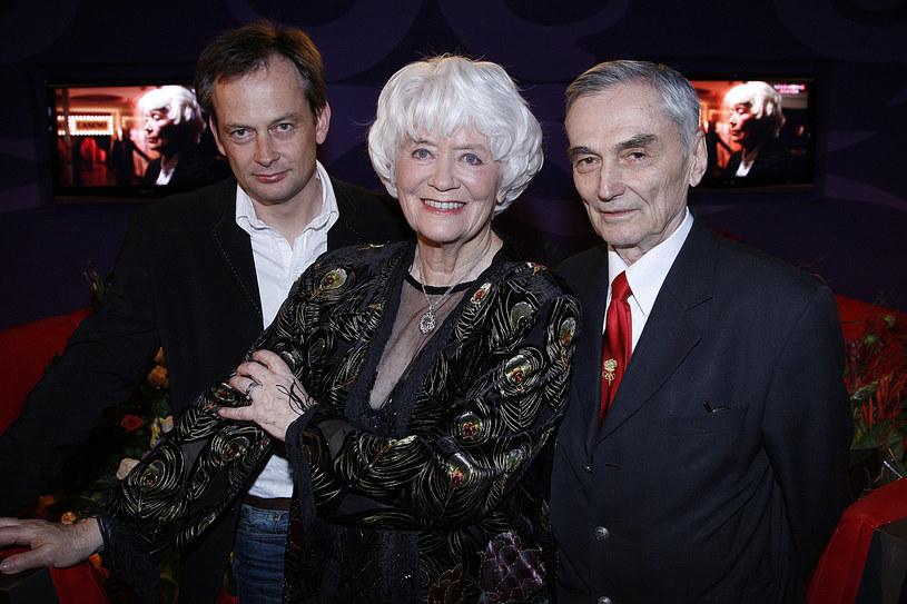 Alina Janowska z mężem i synem /Wojtalewicz /AKPA