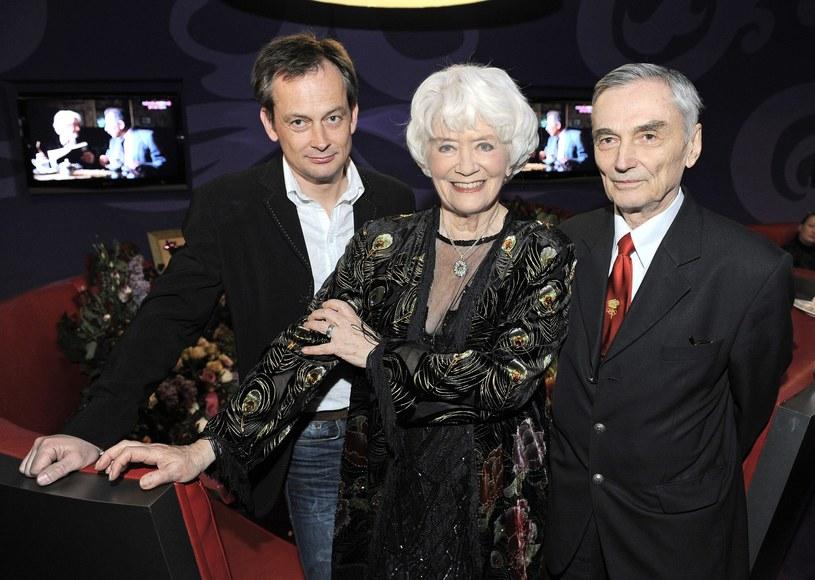 Alina Janowska z mężem Wojciechem Zabłockim i synem Michałem Zabrockim, 2008 r. /East News