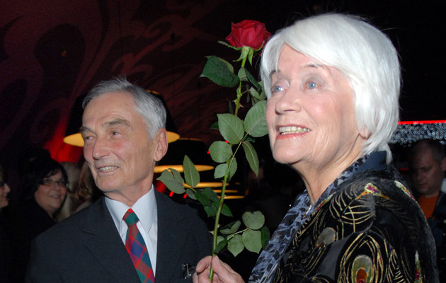 Alina Janowska z mężem /MWMedia