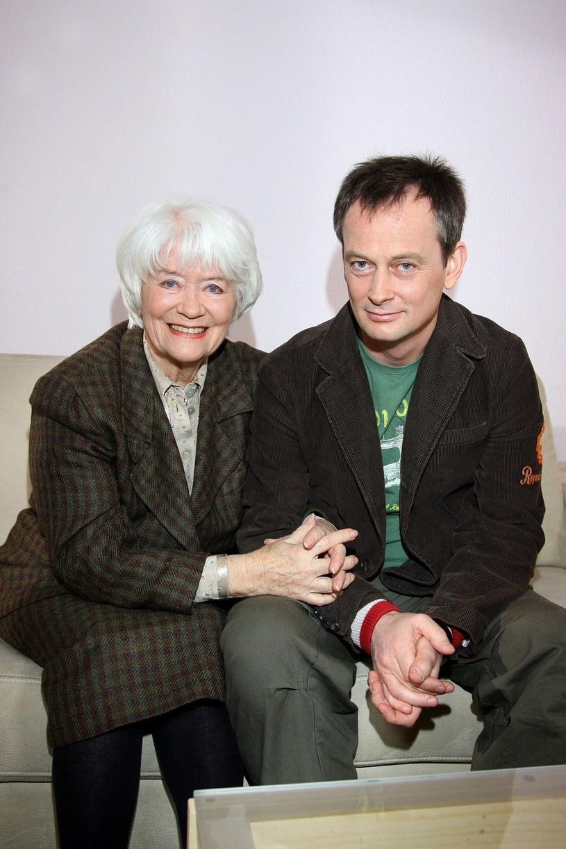 Alina Janowska z synem Michałem Zabrockim /Piotr Fotek /Reporter