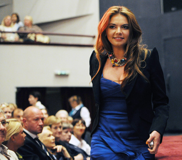 Alina Kabajewa na zdjęciu z 2011 roku /Mudrats Alexandra /PAP/EPA