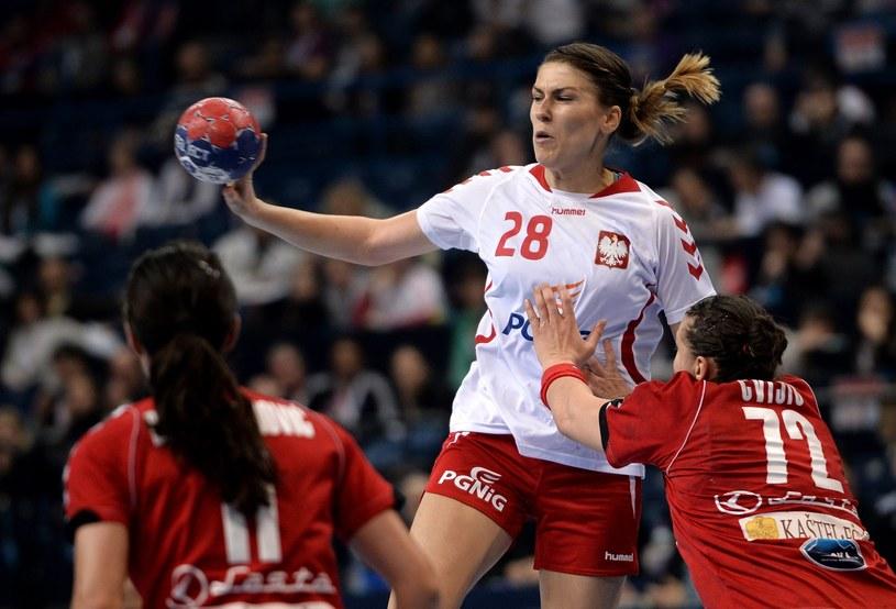 Alina Wojtas w mecz półfinałowym z Serbią /PAP/EPA