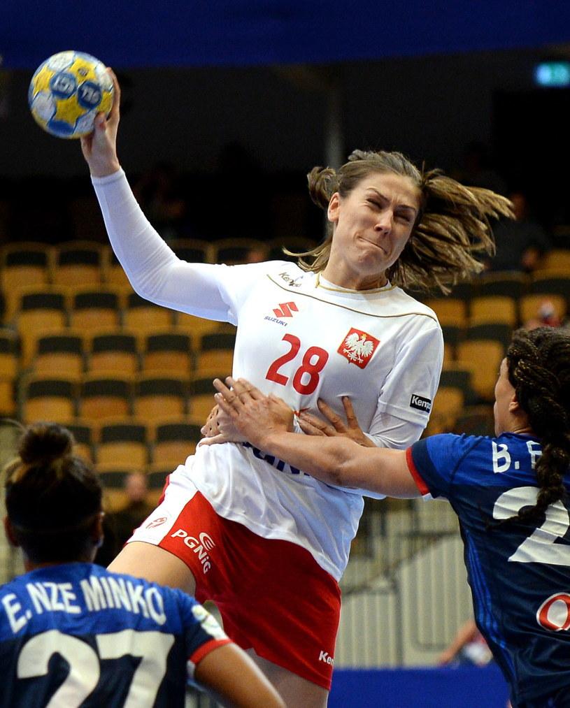 Alina Wojtas w meczu z Francją /Fot. Marcin Bielecki /PAP