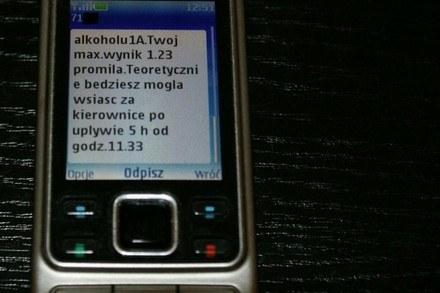 Alkomat przez SMS /RMF/INTERIA