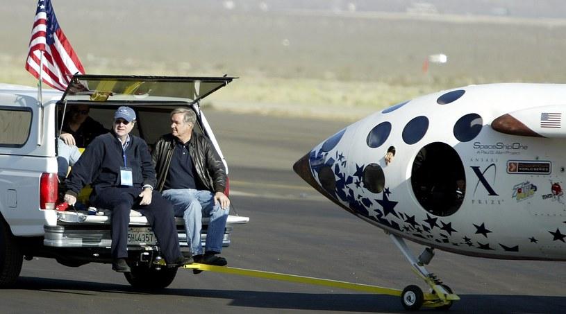 Allen i jego projekt kosmiczny SpaceShipOne /AFP