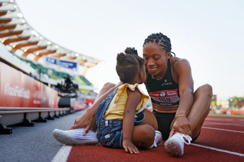 Allyson Felix z córką Camryn /AFP