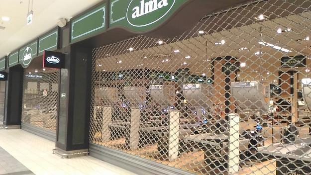Alma Market w Galerii Kazimierz w Krakowie zaraz po zamknięciu. Fot. K. Mrówka /INTERIA.PL
