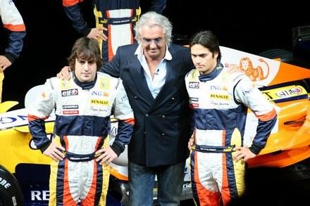 Alonso, Briatore i Piquet /INTERIA.PL