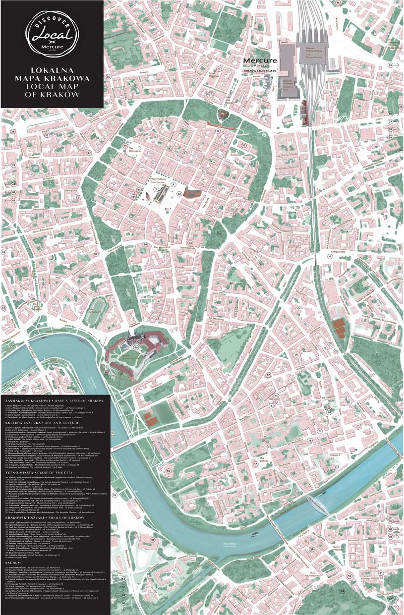 Alternatywna mapa Krakowa autorstwa zespołu Mercure Kraków Stare Miasto /materiały prasowe