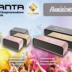 Aluminiowa kolekcja bezprzewodowych głośników Manta