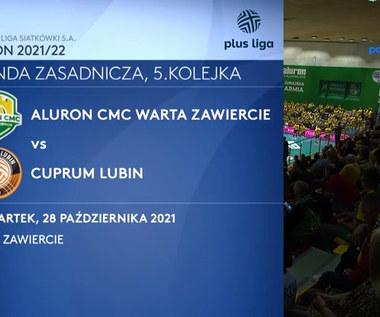 Aluron CMC Warta Zawiercie - Cuprum Lubin. Skrót meczu. WIDEO (Polsat Sport)