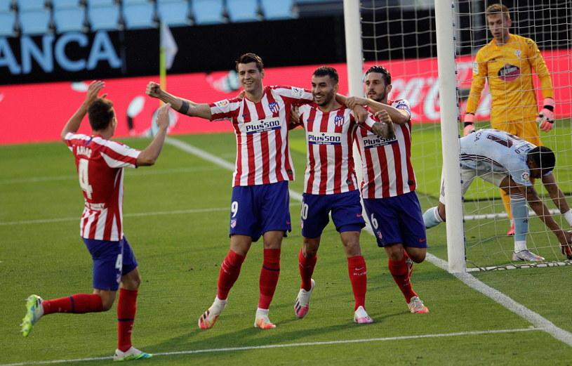 Alvaro Morata dał prowadzenie Atletico już w 1. minucie /PAP/EPA/SALVADOR SAS /PAP/EPA