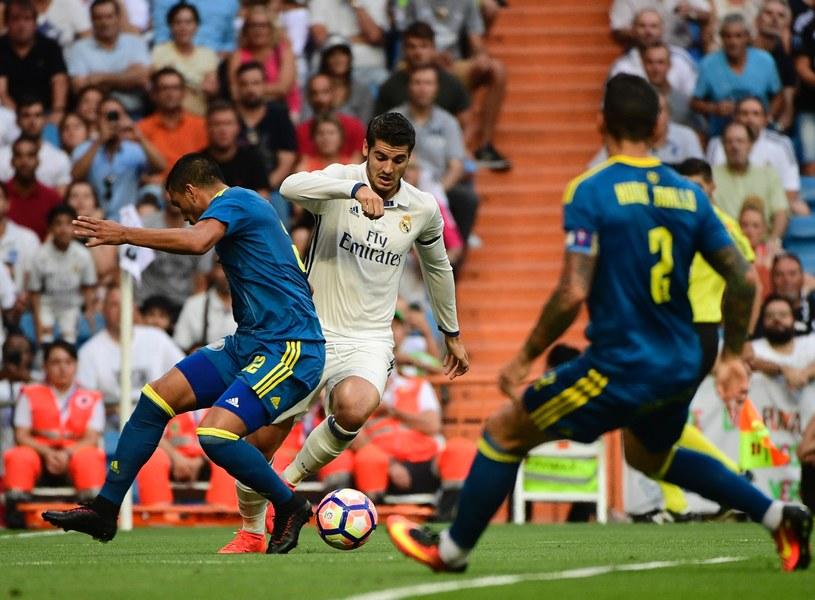 Alvaro Morata w meczu z Celtą Vigo był wszędzie. Bardzo chciał wpisać się na listę strzelców przed madrycką publicznością po tym, jak wrócił do macierzystego klubu /AFP