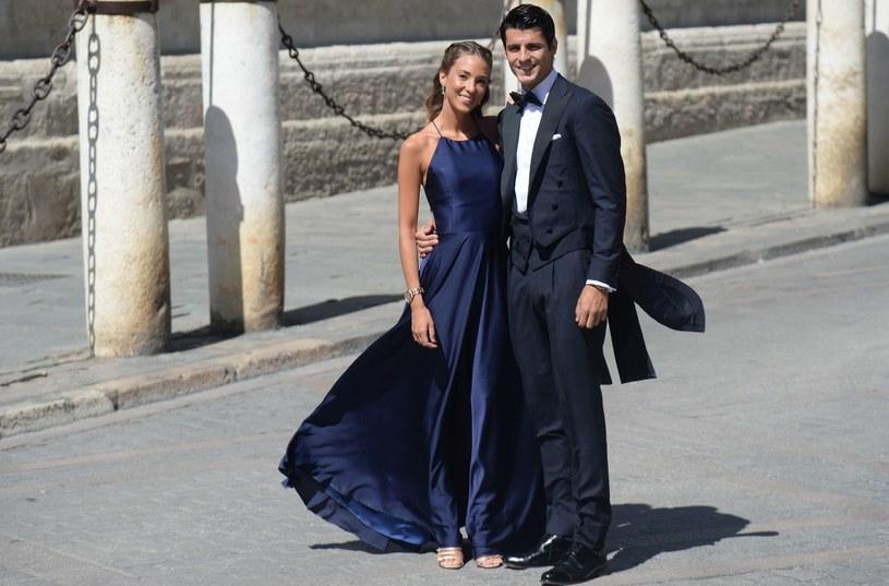 Alvaro Morata z żoną Alice Campello /AFP