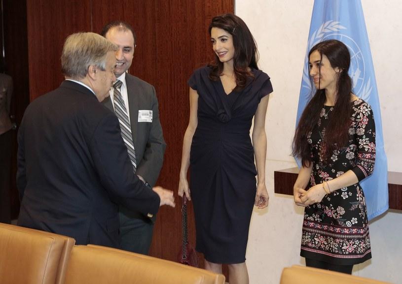 Amal na uroczystym spotkaniu zorganizowanym przez ONZ /East News