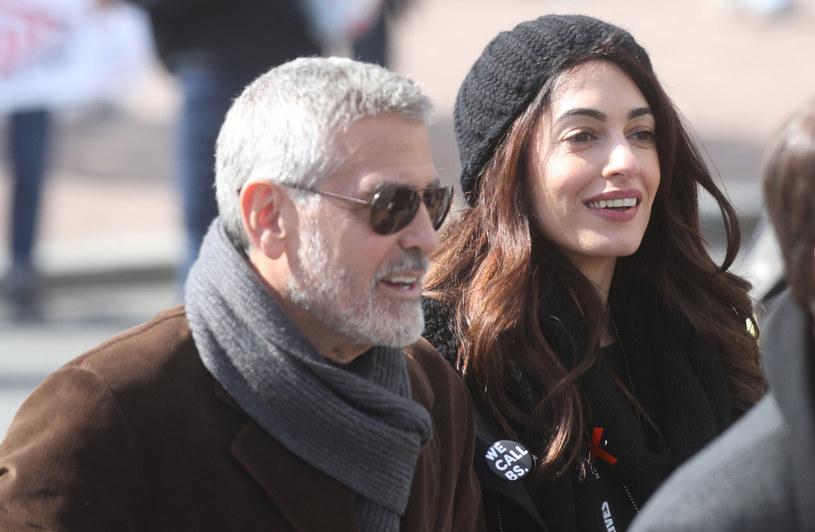 Amal wraz z mężem pojawiła się na waszyngtońskiej demonstracji March for Our Lives /East News