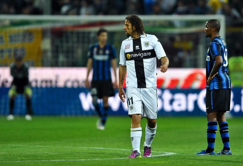 Amauri (numer 11) już wcześniej występował w Parmie /AFP