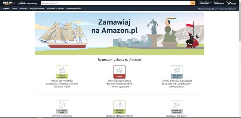 Amazon.pl - podstrona przygotowana na start polskiej wersji serwisu /materiały prasowe