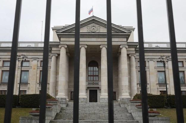 Ambasada Rosji w Warszawie /Paweł Supernak /PAP