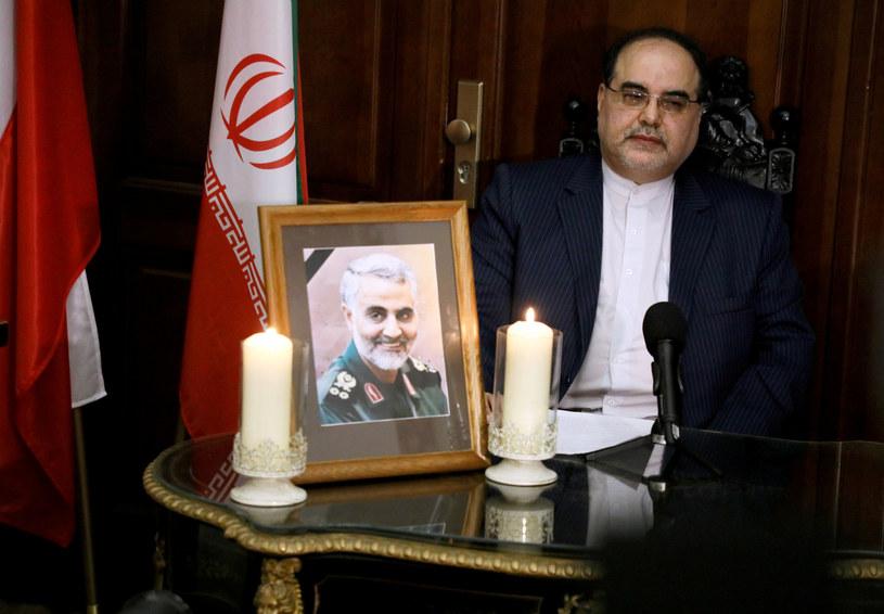 Ambasador Iranu podczas konferencji prasowej /Jakub Kamiński   /East News